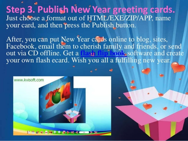 7 step 3 publish new year greeting cards