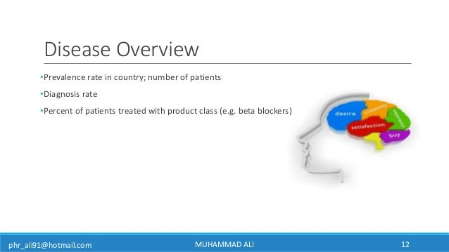 phr_ali91@hotmail.com Disease Overview •Prevalence rate in country; number of patients •Diagnosis rate •Percent of patient...