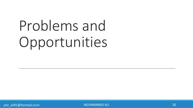 phr_ali91@hotmail.com Problems and Opportunities MUHAMMAD ALI 35