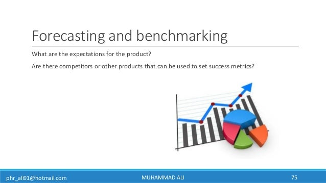 phr_ali91@hotmail.com Forecasting and benchmarking What are the expectations for the product? Are there competitors or oth...