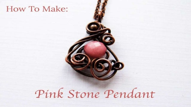How to make pink stone pendant diy jewelry making tutorial how to make pink stone pendant mozeypictures Gallery