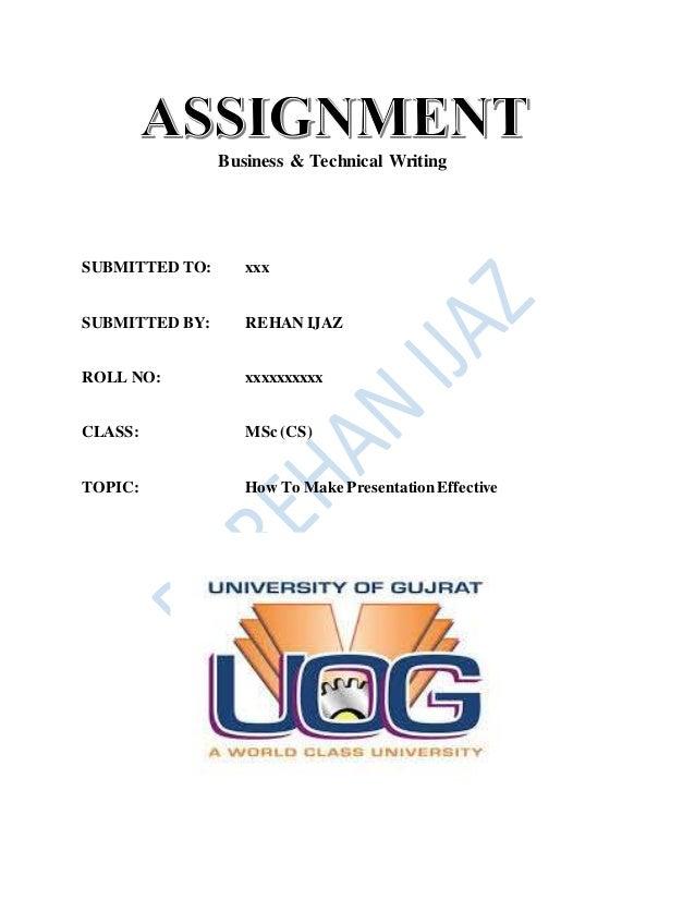 Make assignment