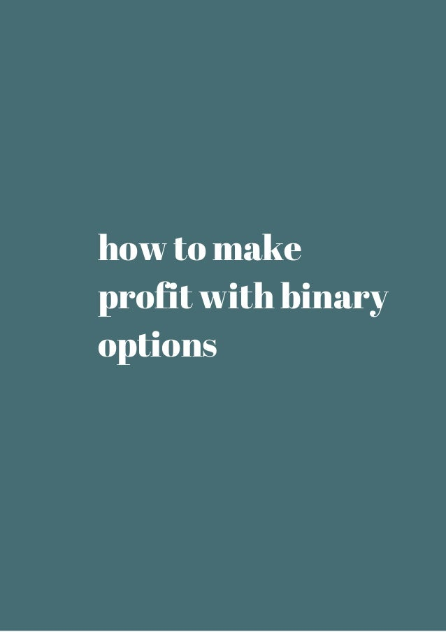 Binary options profit calculator