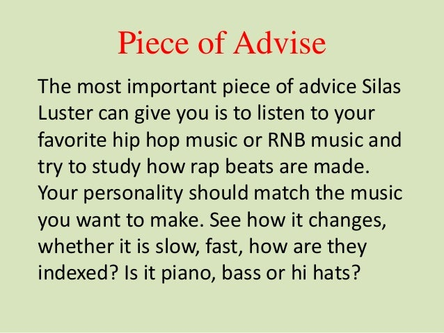 How to Make Rap Beats and Hip Hop Music - Silas Luster