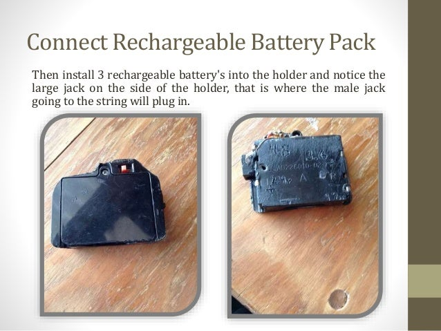 connect rechargeable battery pack - Battery Pack To Plug In Christmas Lights