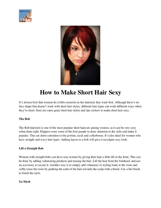 How to style short hair sexy