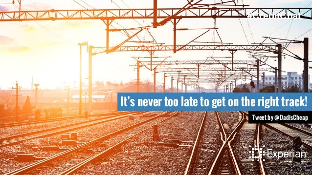 It's never too late to get on the right track! Tweet by @DadisCheap #CreditChat