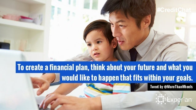 To create a financial plan, think about your future and what you would like to happen that fits within your goals. Tweet b...
