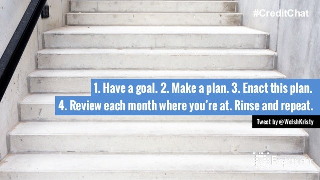 1. Have a goal. 2. Make a plan. 3. Enact this plan. 4. Review each month where you're at. Rinse and repeat. Tweet by @Wels...