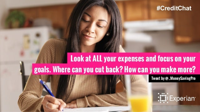 Look at ALL your expenses and focus on your goals. Where can you cut back? How can you make more? Tweet by @_MoneySavingPr...