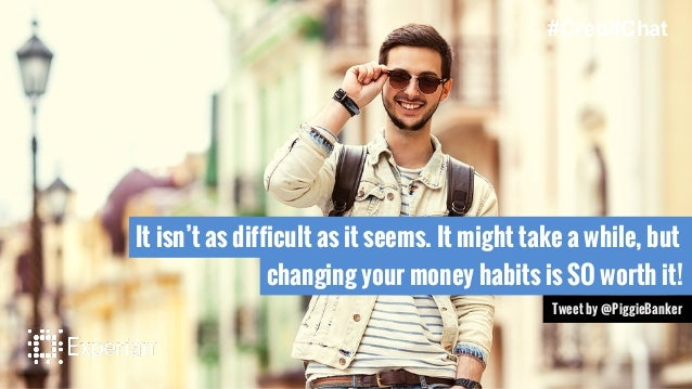 It isn't as difficult as it seems. It might take a while, but changing your money habits is SO worth it! Tweet by @PiggieB...