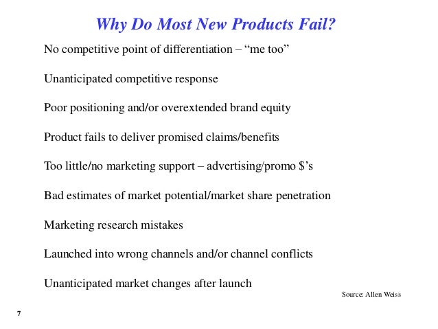 6 Reasons Why Products Fail