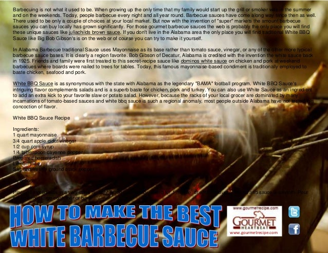 www.gourmetrecipe.com Barbecuing is not what it used to be. When growing up the only time that my family would start up th...