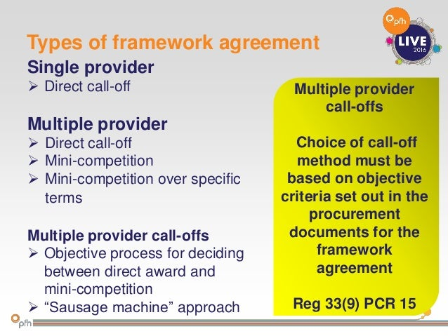 How To Make The Most Of Framework Agreements Andrew Millross