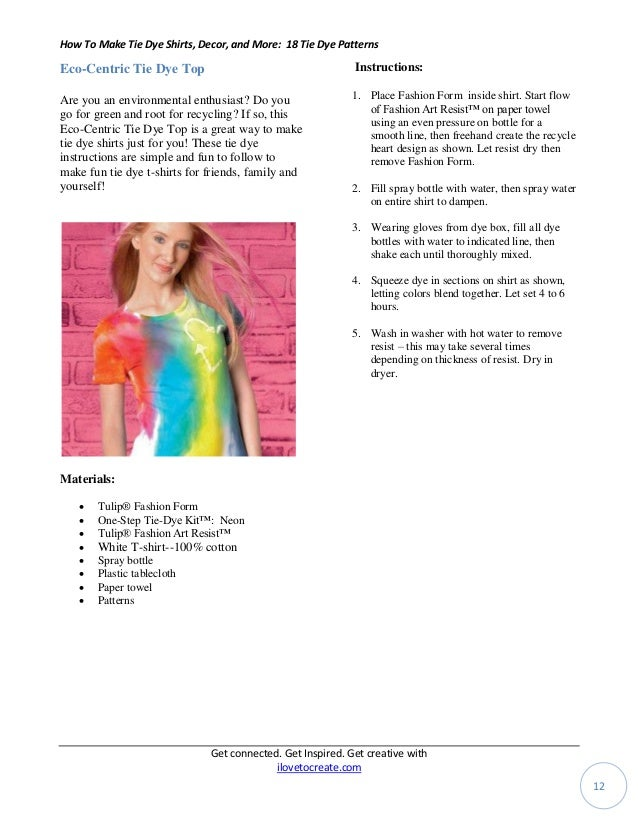 How To Make Tie Dye Shirts Decor And More 18 Tie Dye Patterns 1