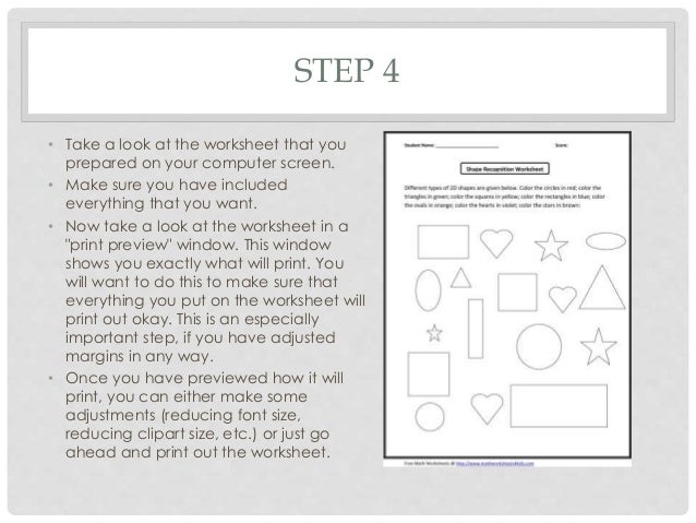 How to make worksheets