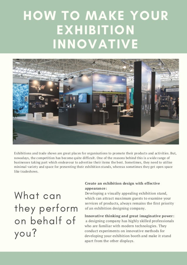 Exhibition Stand Activities : How to make your exhibition innovative
