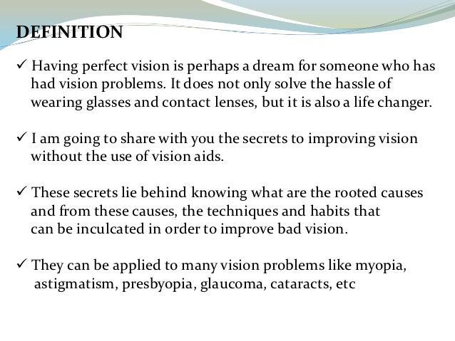 how to make your eyesight better overnight