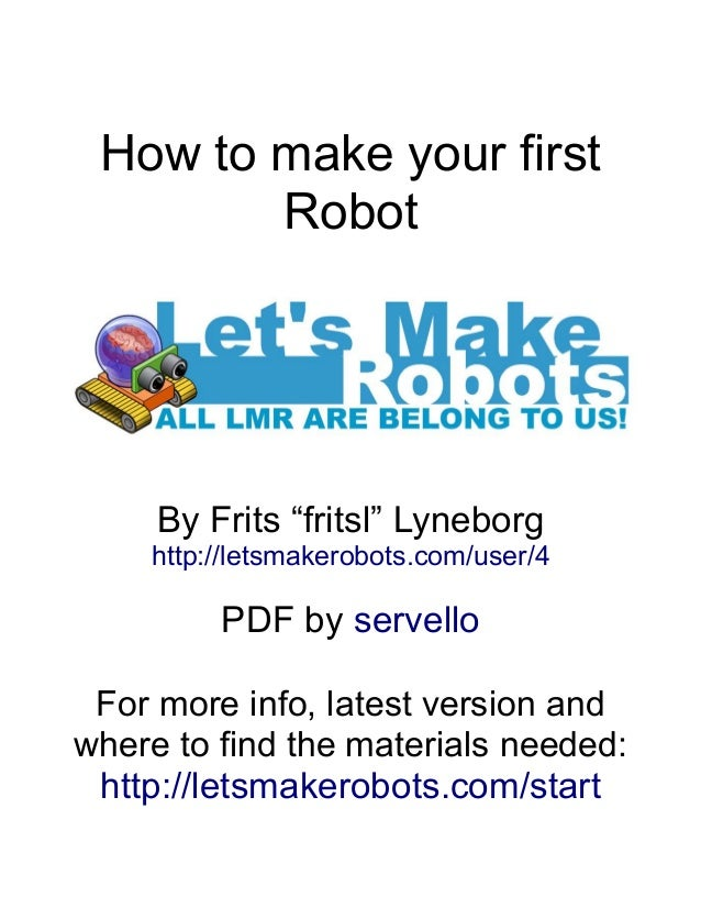 how to build a simple robot pdf