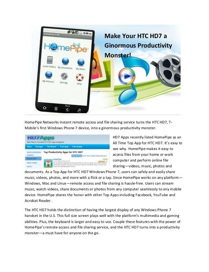 HD7 GRATUIT ZUNE POUR HTC TÉLÉCHARGER