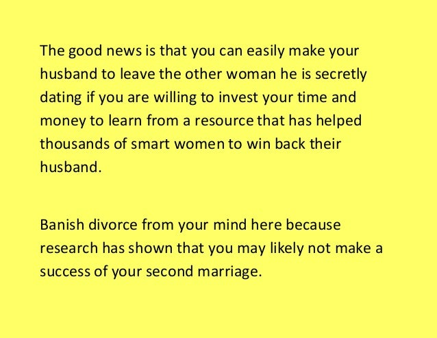 How to Make Your Husband to Leave the Other Woman He Is