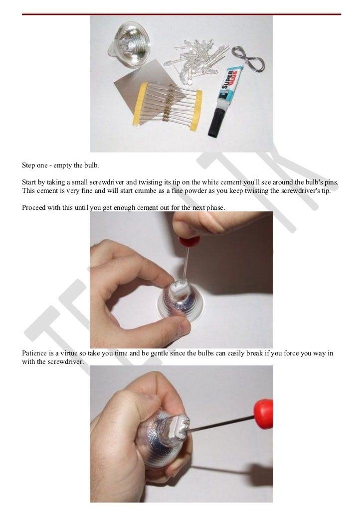 How to make your own led bulbs