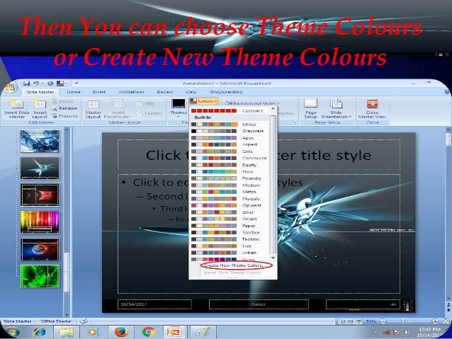 create custom powerpoint theme