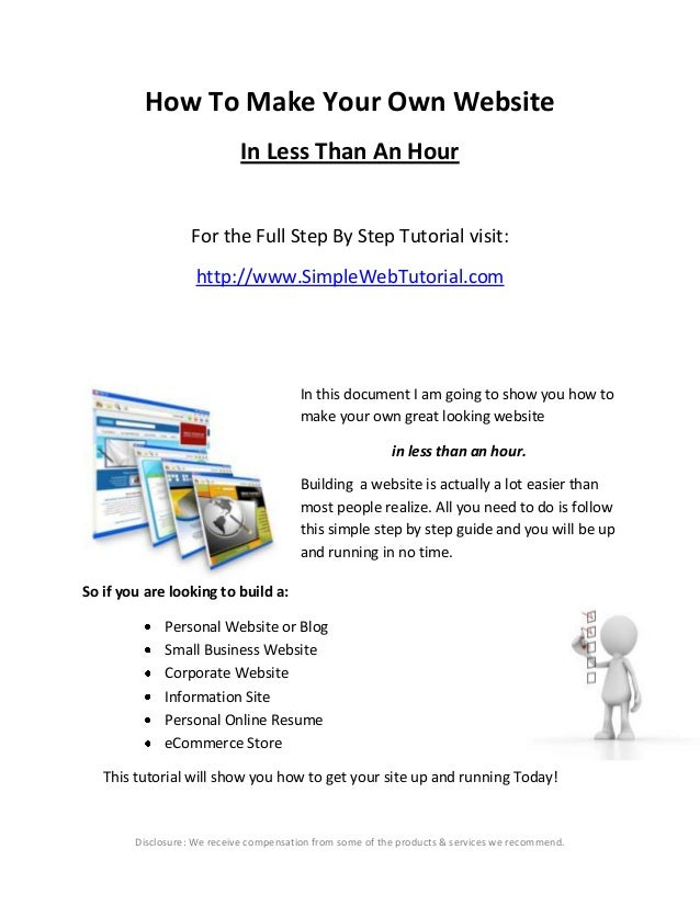How To Make Your Own Website In Less Than An Hour For the Full Step By Step Tutorial visit: http://www.SimpleWebTutorial.c...