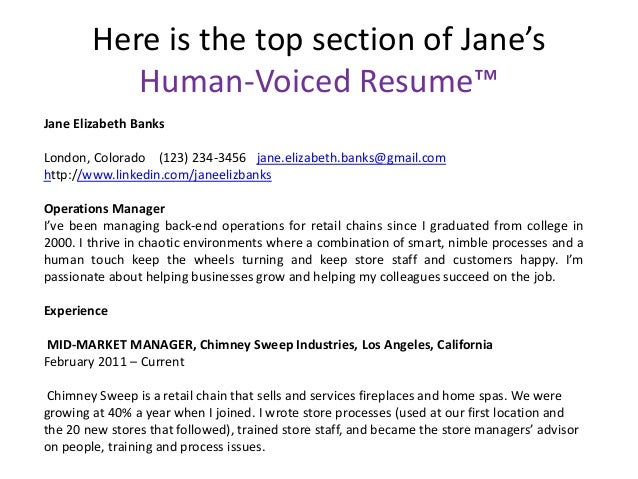 Human Voiced Resume Examples Rome Fontanacountryinn Com