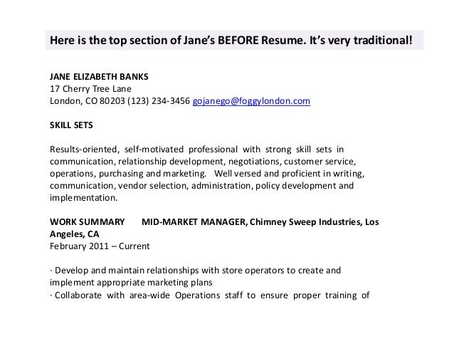 JANE ELIZABETH BANKS 17 Cherry How To Make Your Resume Sound Human