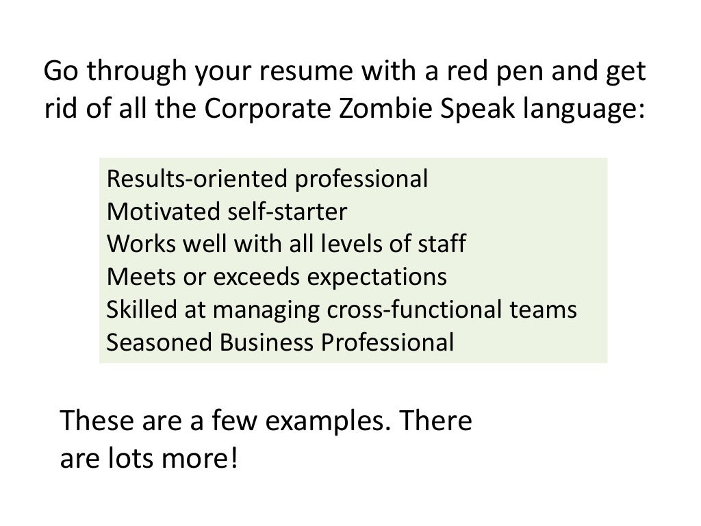 go through your resume with