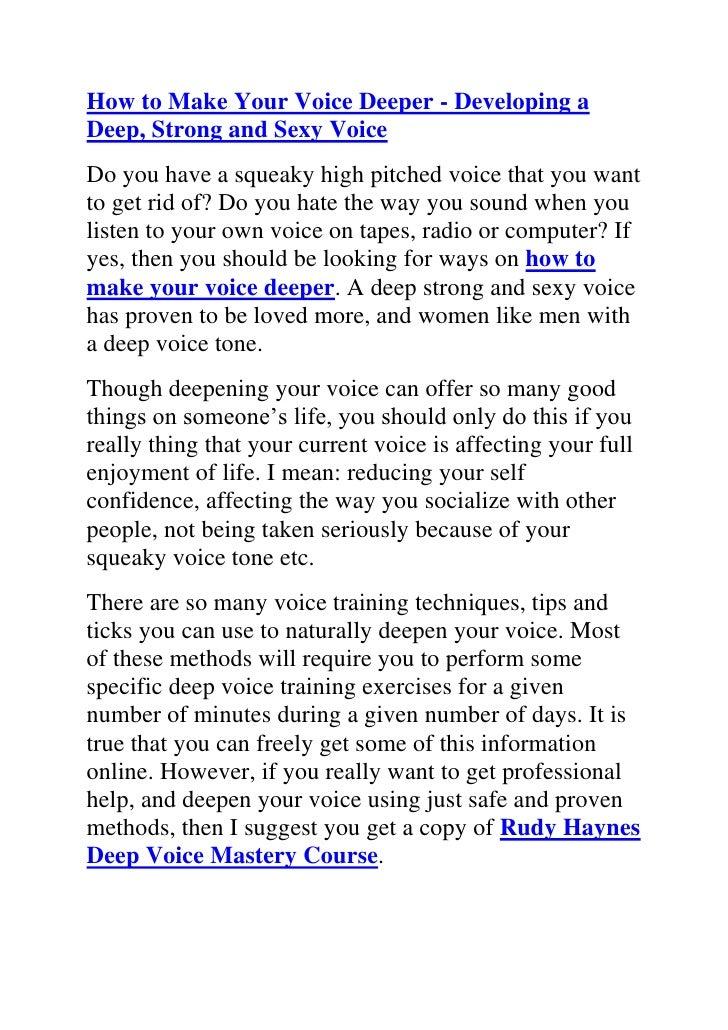 App That Makes Your Voice Deep