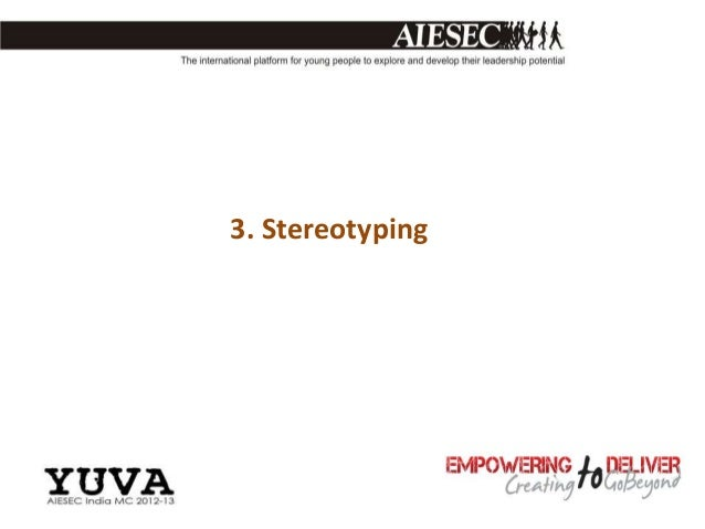 3. Stereotyping