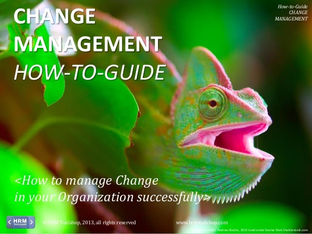 How-to-Guide CHANGE MANAGEMENT  CHANGE MANAGEMENT HOW-TO-GUIDE  <How to manage Change in your Organization successfully> ©...