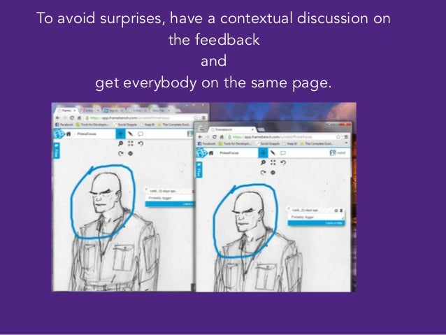 To avoid surprises, have a contextual discussion on the feedback and get everybody on the same page. Or just have a real t...
