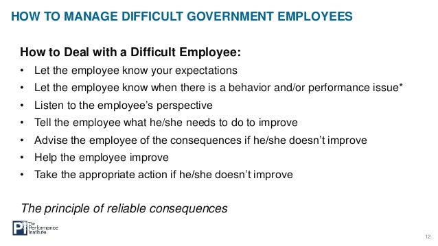 How to Manage Difficult Government Employees Feb 2015