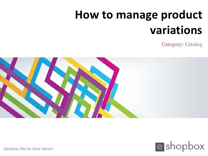 How to manage product                                             variations                                              ...