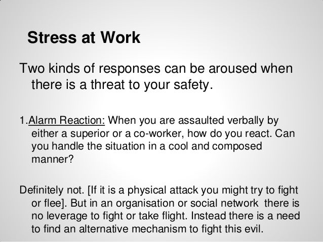 manage stress at workplace