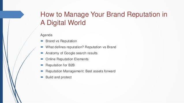 how to build brand reputation