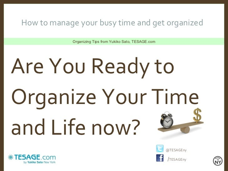 how to organize your life plan