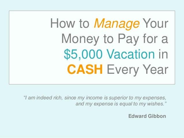 how i manage my money