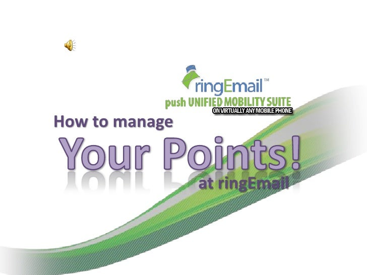 How to manage                at ringEmail