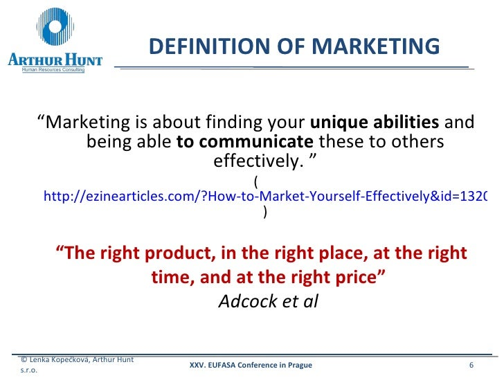 How to market yourself definition of marketing solutioingenieria Gallery