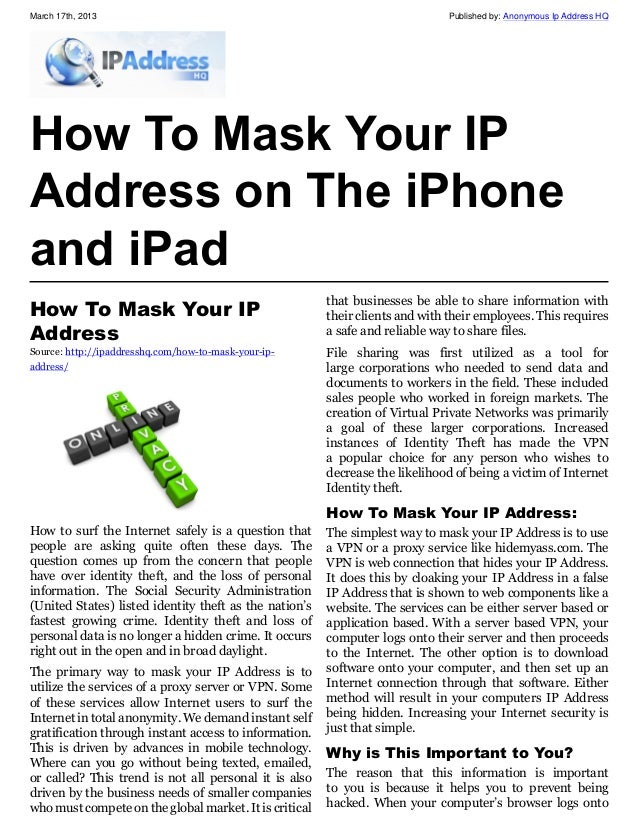 iphone ip address how to find