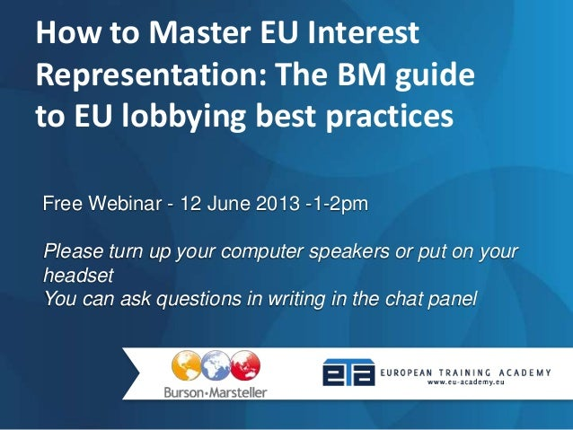 Free Webinar - 12 June 2013 -1-2pmPlease turn up your computer speakers or put on yourheadsetYou can ask questions in writ...