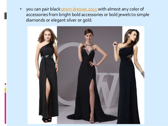 How To Match Black Prom Dresses For 2015 Prom Party
