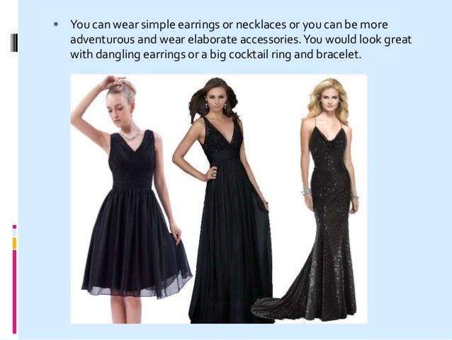 Earrings to match black lace dress