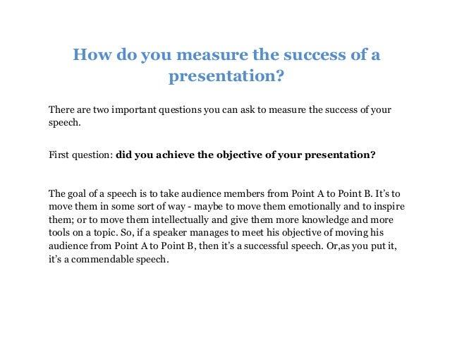 how to determine success
