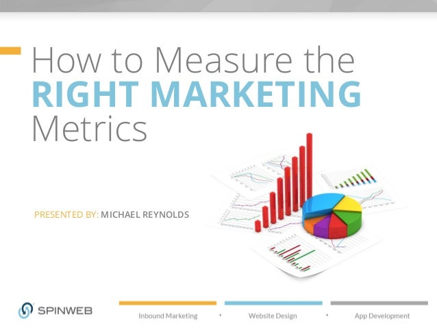 How to Measure the RIGHT MARKETING Metrics PRESENTED BY: MICHAEL REYNOLDS
