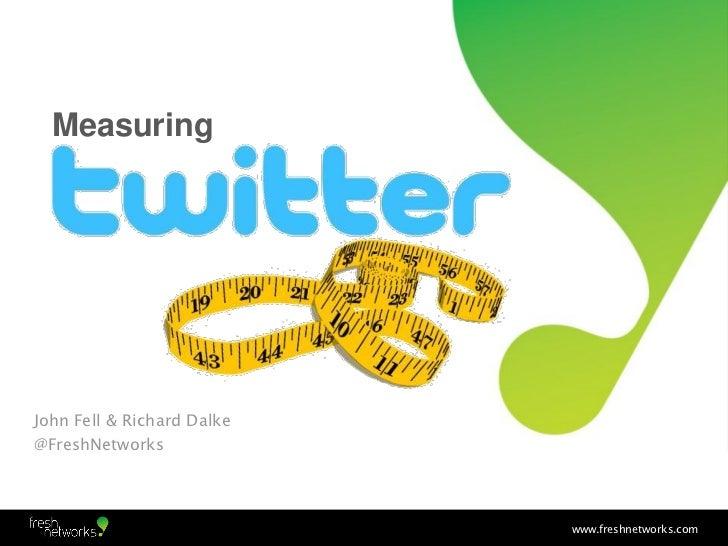 MeasuringJohn Fell & Richard Dalke@FreshNetworks                            www.freshnetworks.com